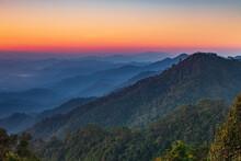 In The Morning  At Doi Ang Khang, Chiangmai Province , Thailand.