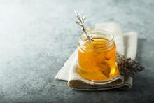 Organic Lavender Honey In A Jar