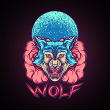 Wolf Animal With Smoke