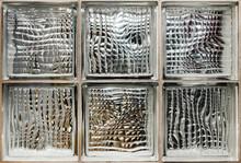 Photo Texture Glass Brick Tiles Surface Backdrop..