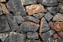 Old Stone Wall Texture Photo.
