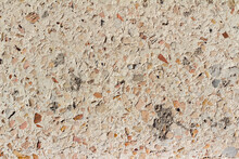 Photo Texture Of Concrete Stucco Wall With Glass Elements.