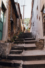 Stairs In A Alley Of Oaxaca Mexico