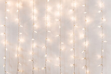 Twinkle Lights Background On A Wall