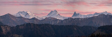 Swiss Alps Mountain Panorama.