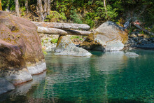 Stunning Emerald Water Along The Staircase Rapids Trail Washington State
