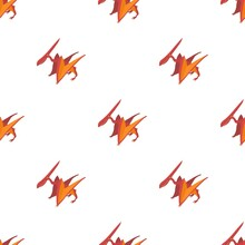 Pterodactyl Pattern Seamless Background Texture Repeat Wallpaper Geometric Vector