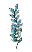 Glitter Color Seaweed Isolated Illustration