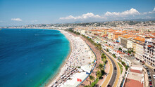 View Of The Cote D'Azur In Nice, France