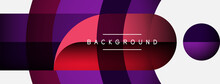 Geometric Abstract Background. Round Shapes, Circles, Lines Composition For Wallpaper Banner Background Or Landing Page