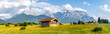 canvas print picture - Buckelwiesen zwischen Wallgau, Krün und Mittenwald mit Blick auf das Karwendelgebirge, Bayern, Deutschland