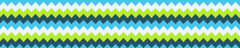 Seamless Pattern Banner With Green And Blue Chevron