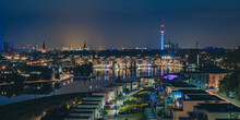 Nightshot Of Phönixsee In Dortmund