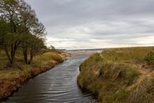 The Estuary Of The River Into The Baltic Sea When The Sea Has Receded