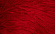 Abstract Red Fur Texture Background