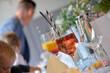 canvas print picture - glas mit cocktail alkohol