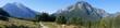 canvas print picture - Auf dem Almerlebnisweg zur Mordaualm mit Blick zum Watzmann