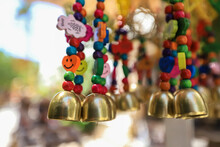 Colorful Little Bells Sold In The Bazaar In Old Datca.