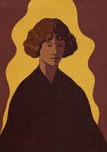 Woman Retro Illustration