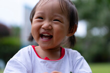 Happy Baby Asian Girl Smile Close Up