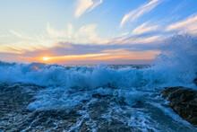 Ocean Wave Sunset