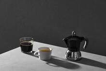 Brewing Coffee In The Moka Coffee Maker