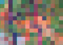 Vintage Pixel Landscape Illustration