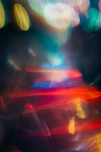 Light Strikes, A Colourful Abstract Light Image.