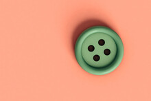Green Button On Pink Background With Copyspace