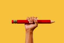 Man With A Large Red Pencil