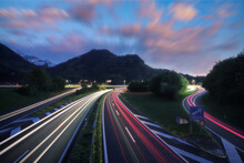 Fast Paced Road Scene
