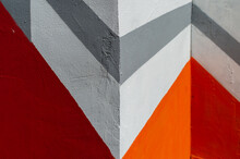 Geometric Pattern Painted On The Wall