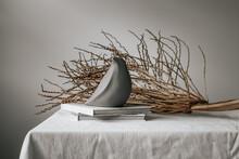 Deconstructed Bird Nest Home Decor Still Life
