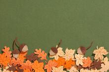 Set Of Oak Leaves And Acorns