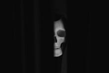 Skull With Hood For Halloween