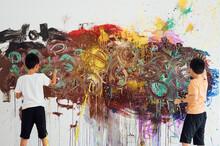 Boy Graffiti On The Wall