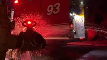 Fire Truck Getting Water From Hydrant