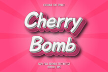 Cherry Bomb Editable Text Effect Comic Style
