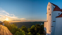 Fantastic Sunset At Wildenstein Castle In The Danube Valley