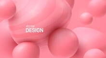 Abstract Background With Soft Pink Bubbles