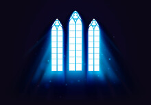 Vector Illustration Light Ray Church Window