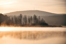 Morning Mist Over The River