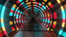 Colorful Kaleidoscopic Tunnel Background