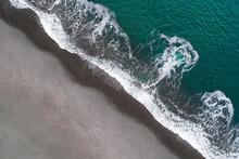 Smooth Ocean Flow Washing Waves Ashore