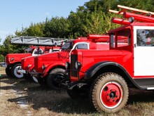 Exhibition Of Historic Old Fire Engines.