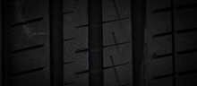 Close Up  Old Tire Texture Background