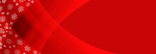 Red Snowflake Banner Background