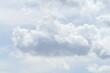 canvas print picture - Weisse Wolken, Blauer Himmel, Hintergrundbild, Deutschland, Europa