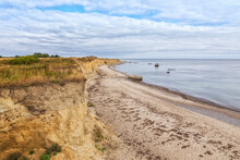 Beach And Cliff At The Southernmost Point Of Denmark At Gedser Odde, Island Of Falster,