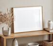 canvas print picture - Mockup frame close up in living room interior background, 3d render